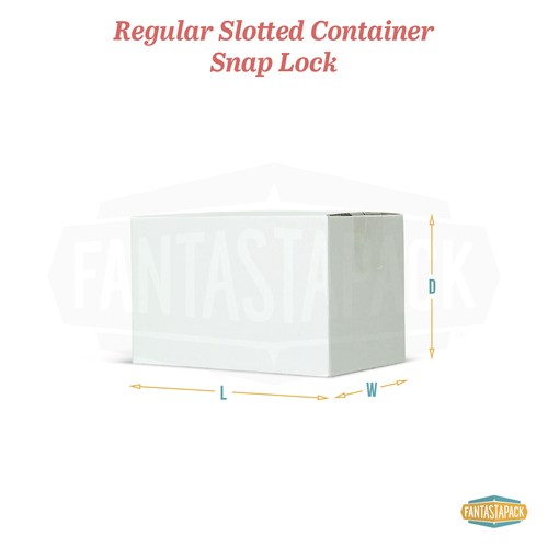 Regular Slotted Container - Snap Lock Bottom