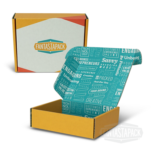 Fantastapack example of custom printed mailer box