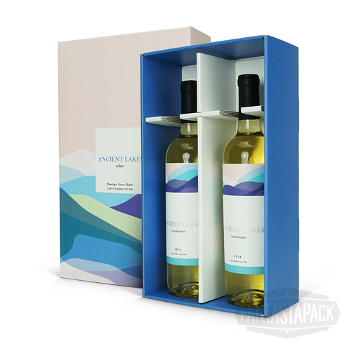 Two Bottle Wine Display Gift Box