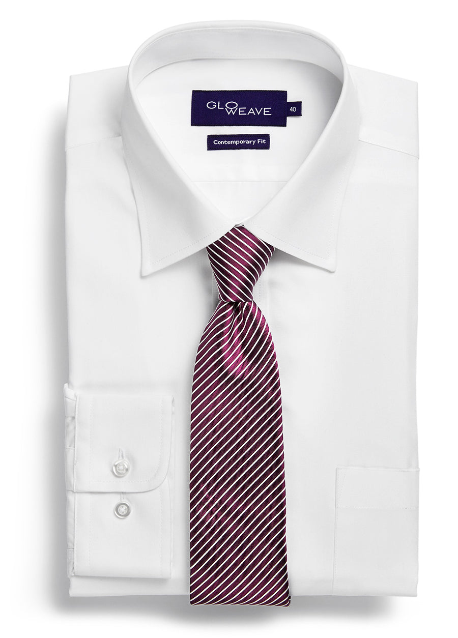Plain Poplin Business Shirt
