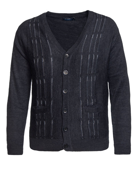 Ansett Indigo B9724 Button Cardigan
