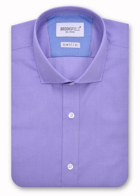 Brooksfield 1367 Lilac Textured Weave Shirt