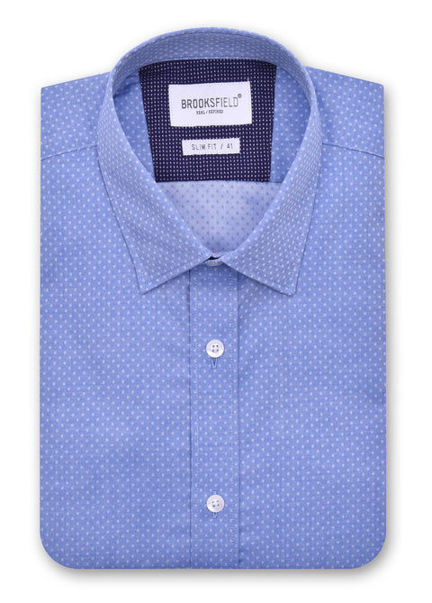 Brooksfield Blue 1368 Career Twill Debby Shirt
