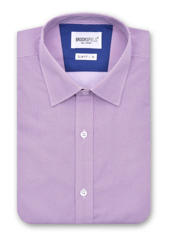 Brooksfield Berry 1380 Career Fine Dot Print Shirt
