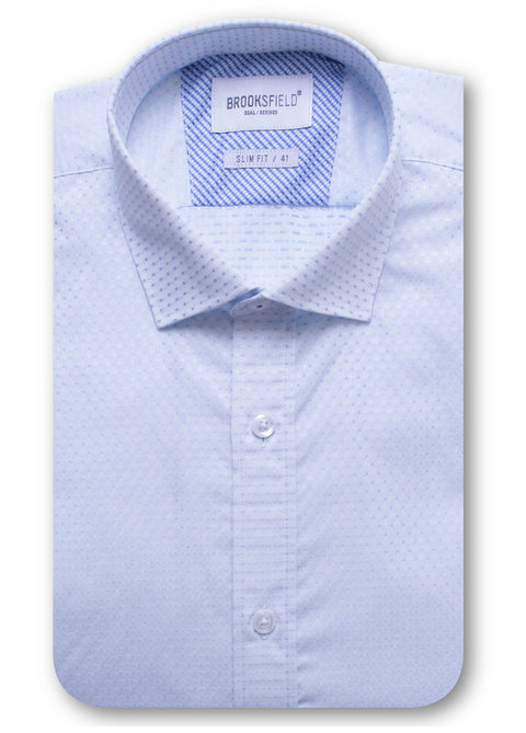 Brooksfield Sky Career Subtle Square Dobby Shirt