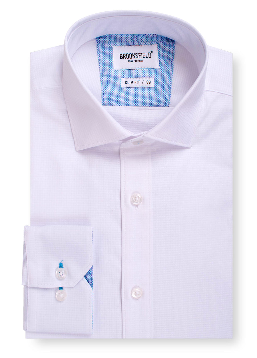 Career Grid Textured Business Shirt