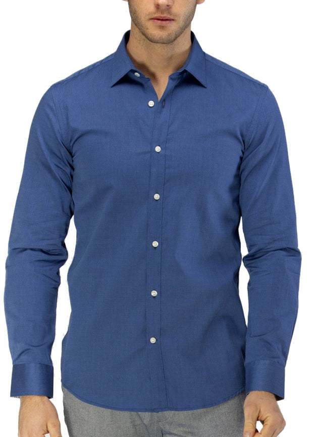 Career Textured Weave Business Shirt