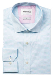 Career Fine Diamond Print Business Shirt