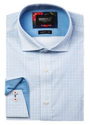 Luxe Geo Print Slub Business Shirt