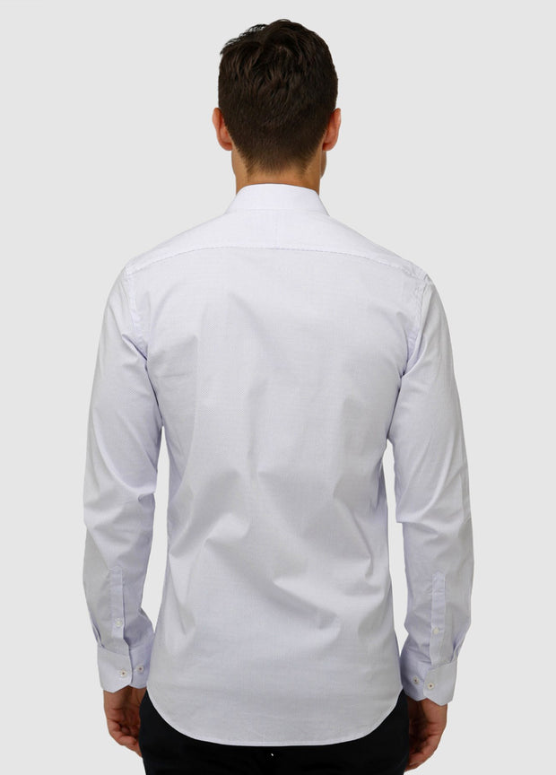 Stretch Dot Print Business Shirt