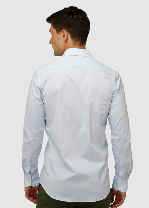 Stretch Double Dot Print Business Shirt