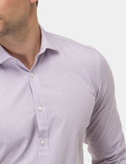 Textured Geo Print Business Shirt