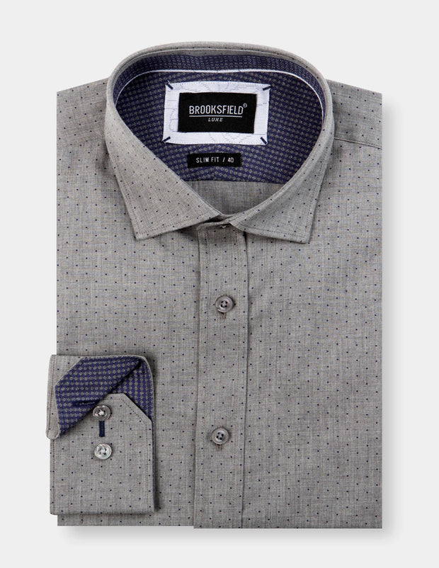 Dot Print Luxe Business Shirt