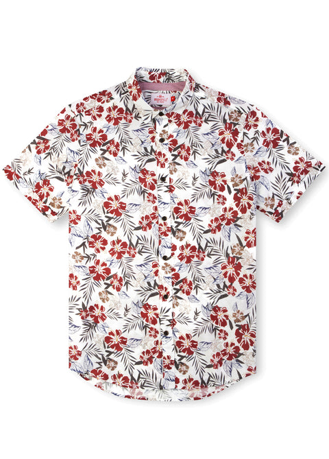 Casual Hawaiian Print Shirt