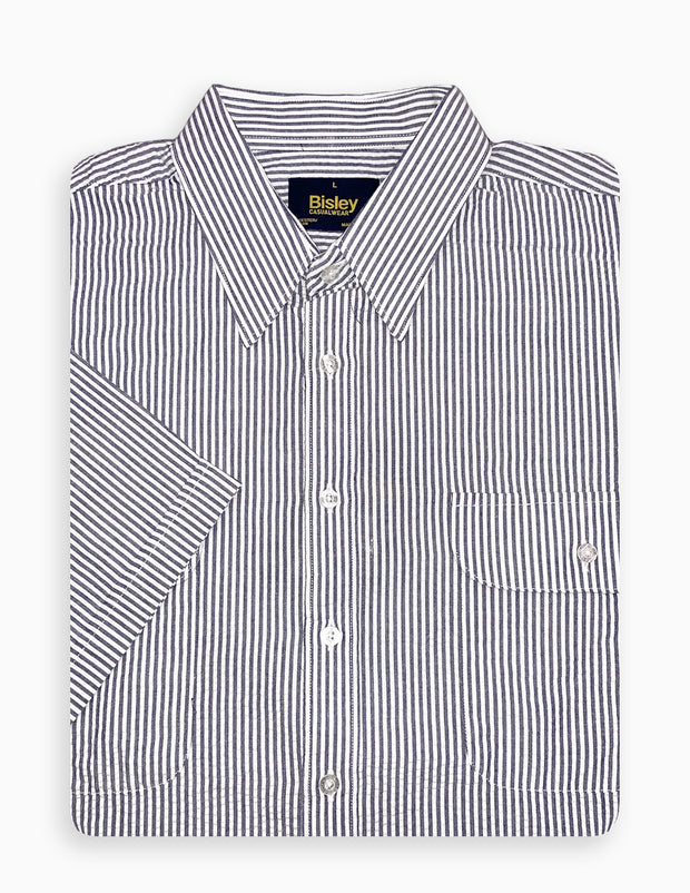 Seersucker Double Pocket Shirt