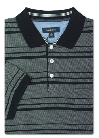 Back Bay Black Box Stitch Polo