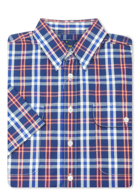 Bisley Navy BS2791 Large Check S/S Shirt