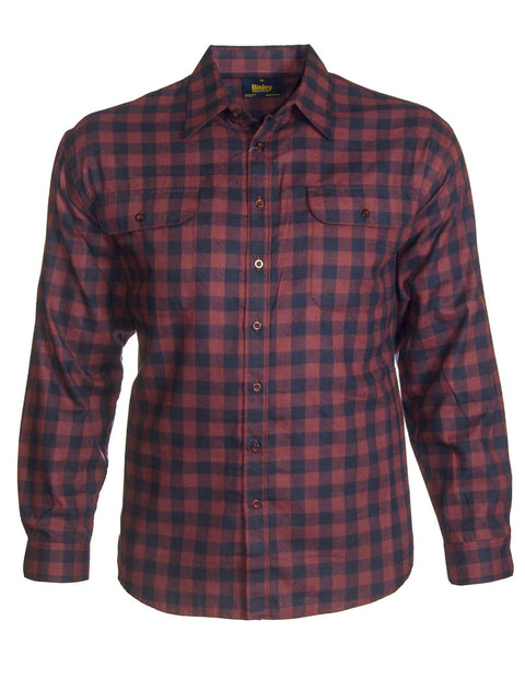 Bisley Maroon BS7819 L/S Brushed Cotton Shirt