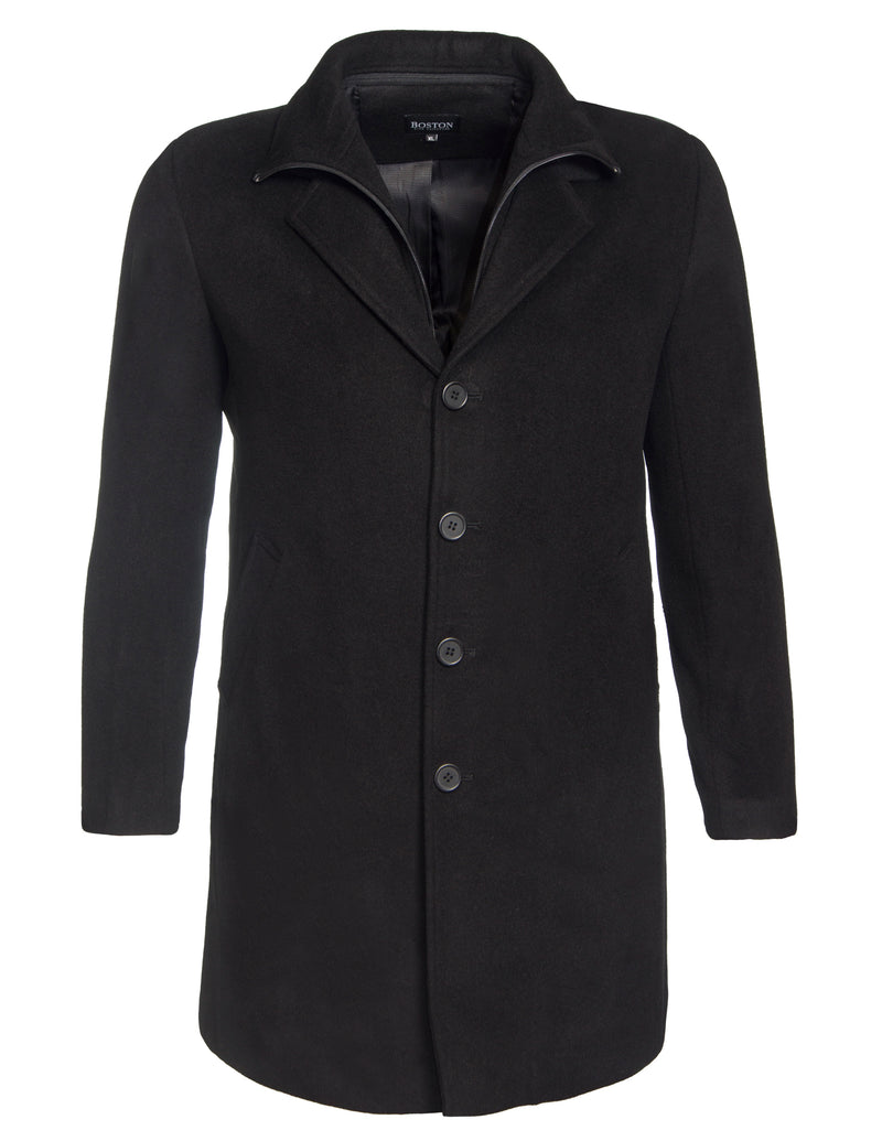 Boston Black W18NWP Profile Overcoat