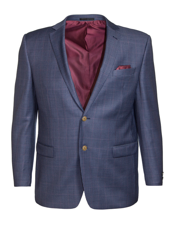 Micro Check Wool Blazer