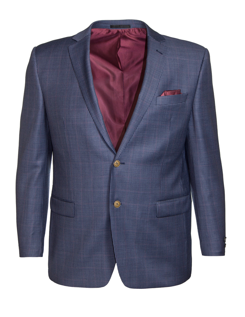 Boston Blue Micro Check S17B337M Wool Sports Coat
