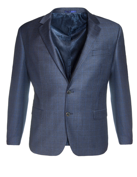 Boston Blue Black W18B151-12 Micro Check Sports Coat