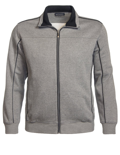 Breakaway Grey Marle BA61443 MT Fleece Jacket