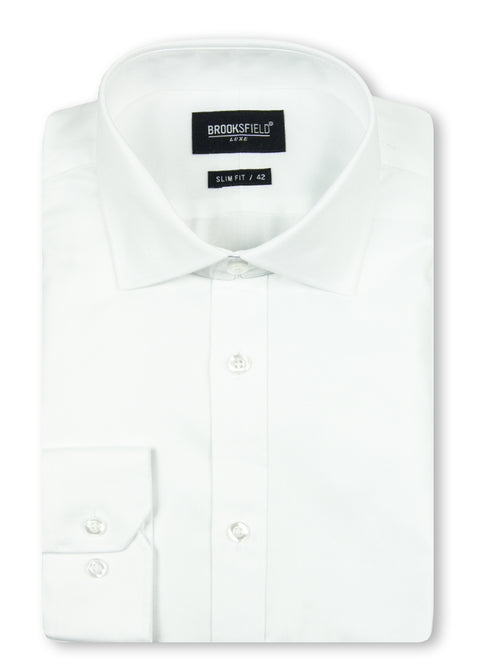 Brooksfield White BFC1195 Luxe Business Shirt