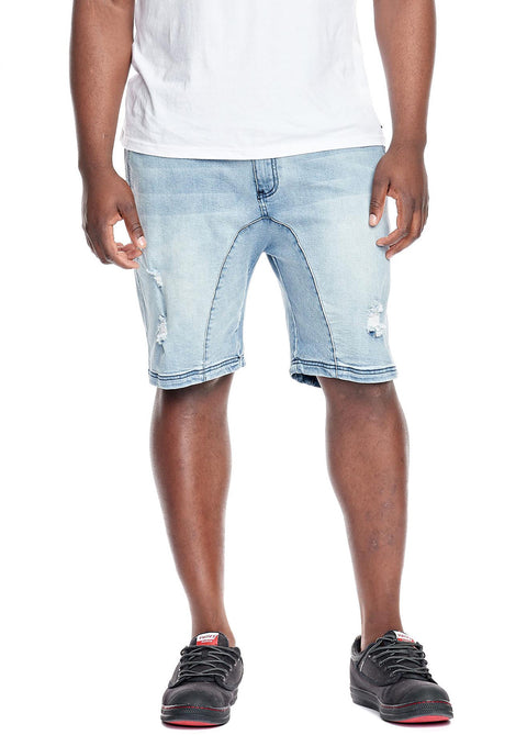 Hammersmith Slate Denim Drop Jogger Short