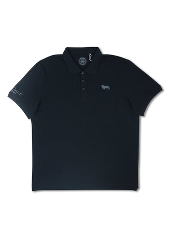 Lonsdale Black Eric Short Sleeve Polo