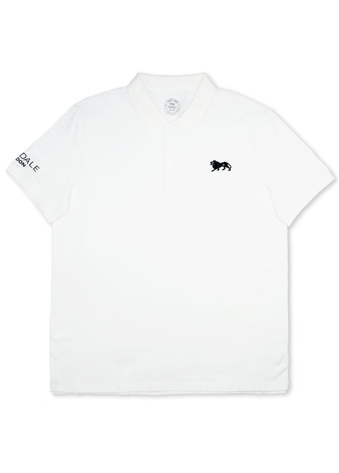 Lonsdale White LE547 Eric Short Sleeve Polo
