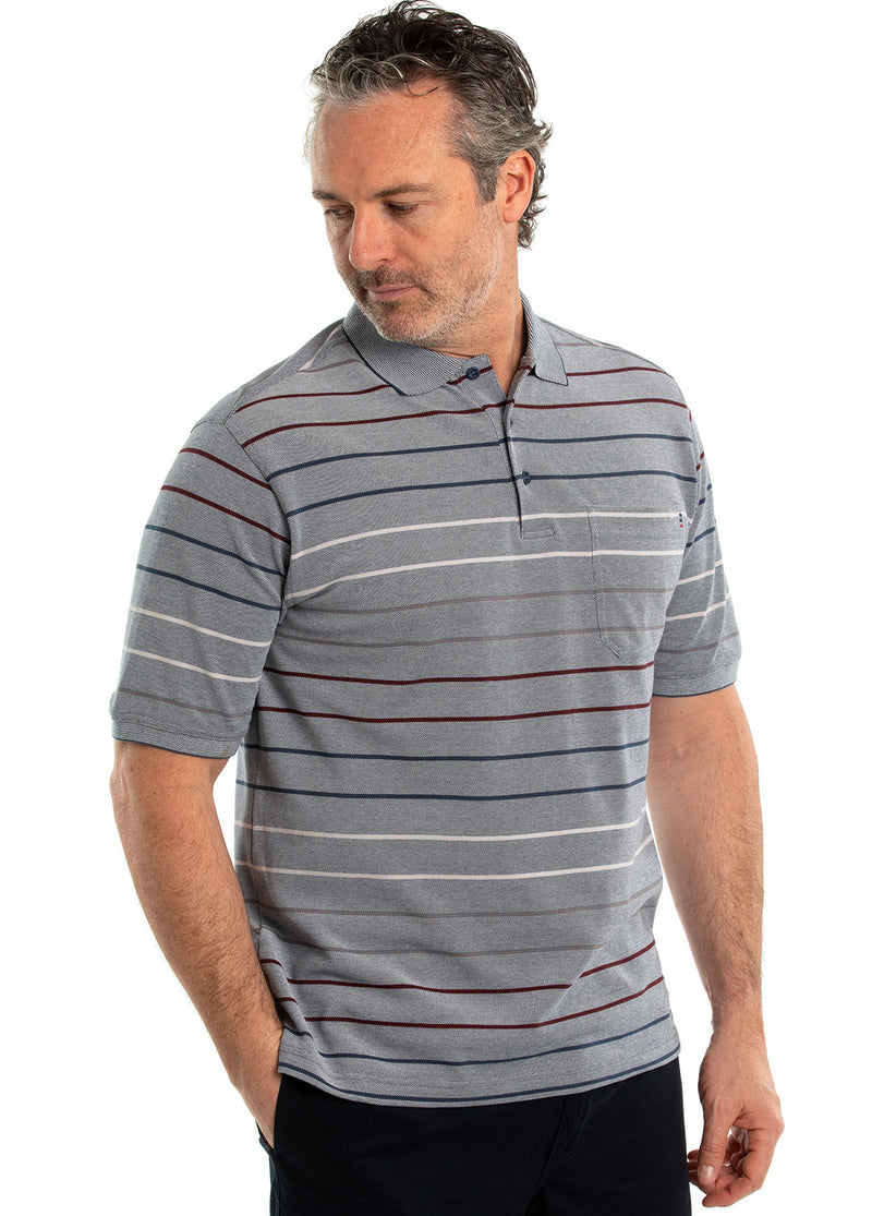 Moss Cotton Tuck Polo
