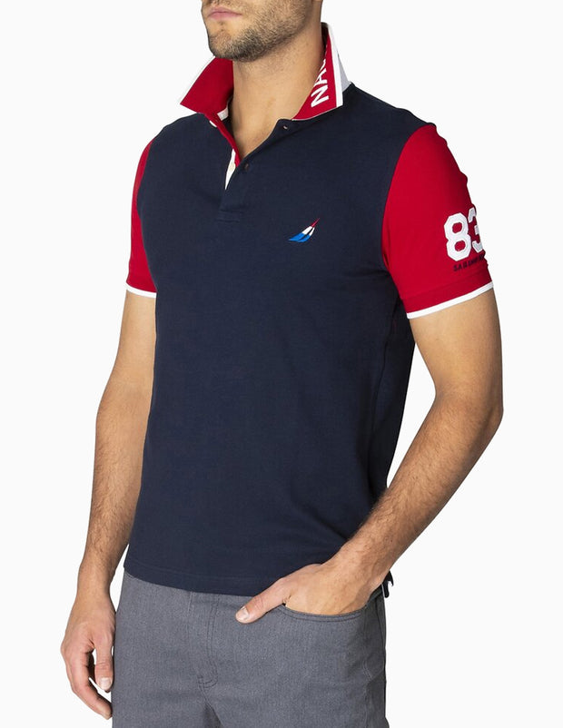 Slim Fit Pop Collar Contrast Polo