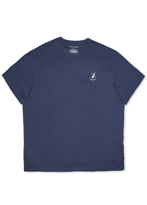Nautica Mood Indigo 641054 Back Sailboat S/S Tee