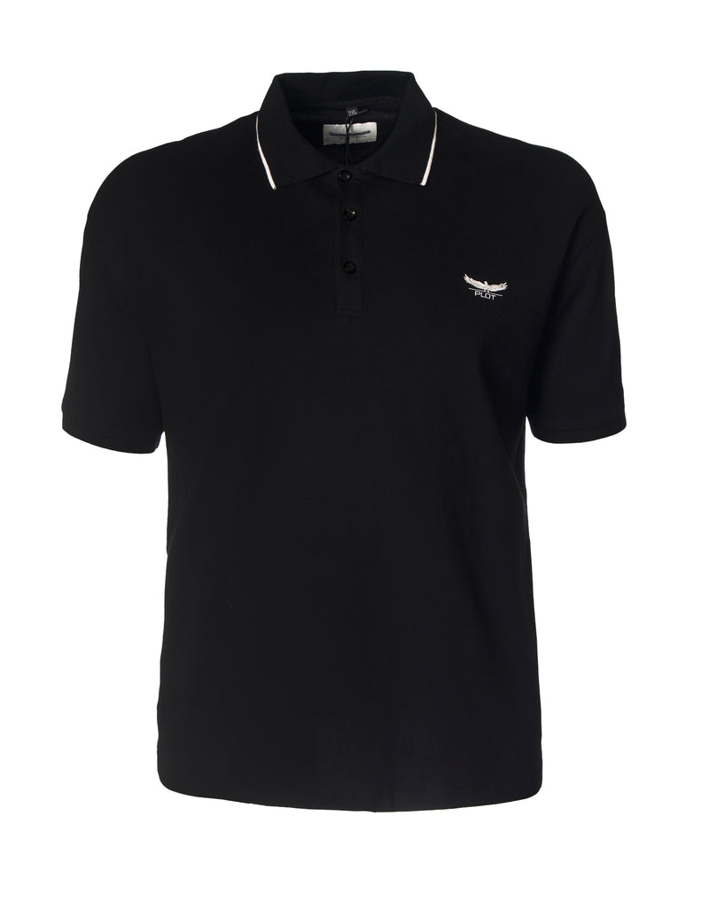 Plot Black B7P16 Short Sleeve Polo