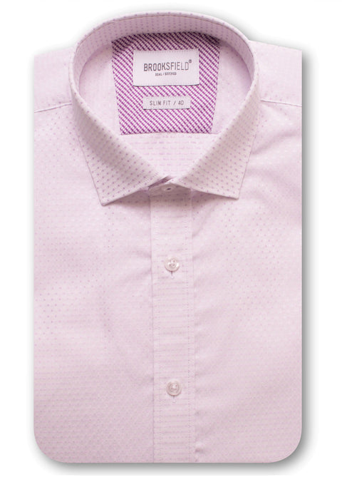 Brooksfield Lilac BFC1421 Career Subtle Square Dobby Shirt