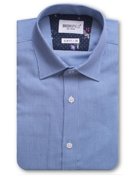 Brooksfield Blue BFC1467 Career Dobby Shirt