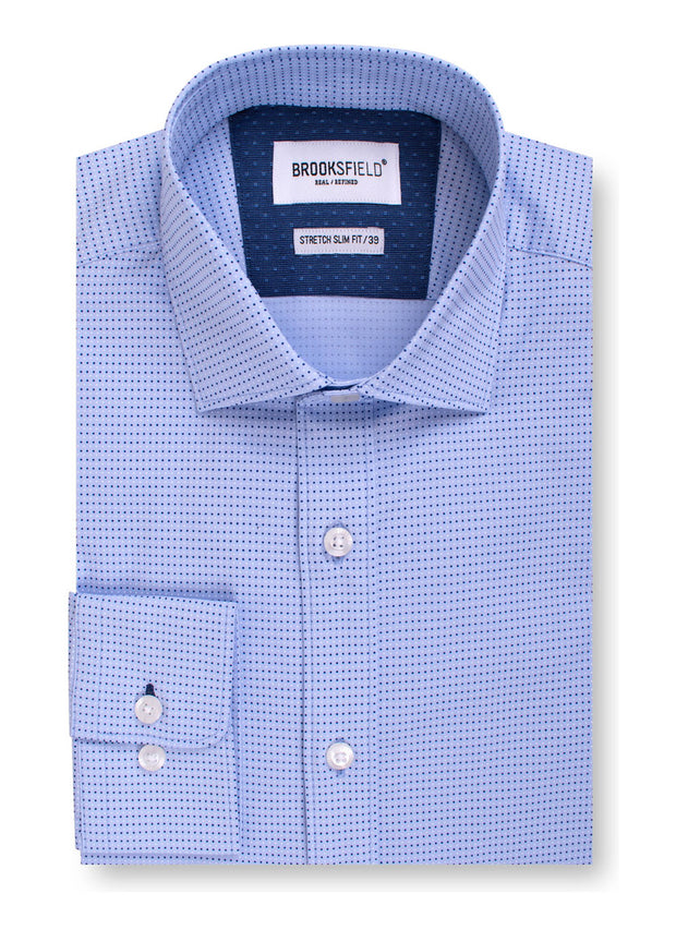 Career Stretch Dot Print Shirt