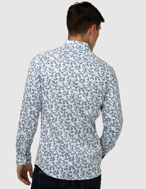 Paisley Print Satin Business Shirt