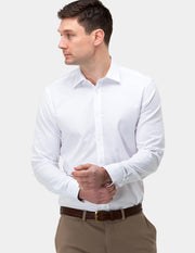 Textured Plain Business Shirt
