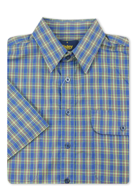 Bisley Blue BS2785 Medium Check S/S Shirt