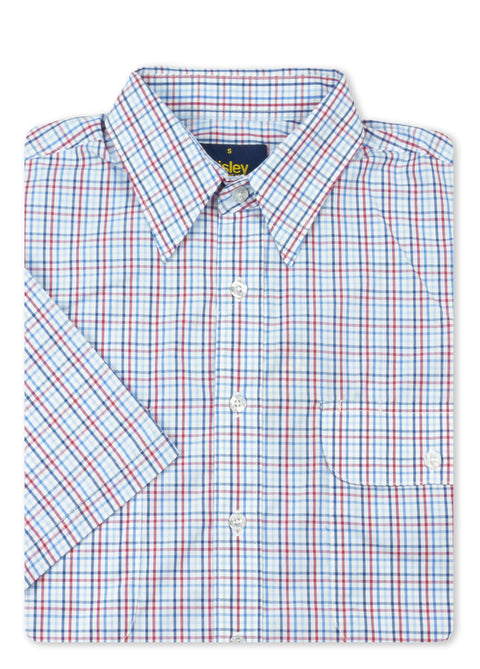 Bisley Blue BS2781 Small Check S/S Shirt