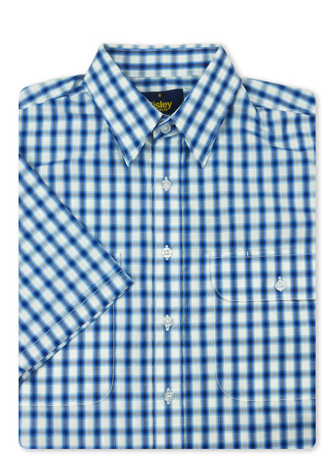 Bisley Blue BS2786 Medium Check S/S Shirt