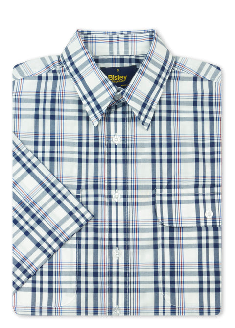Bisley Navy BS2783 Large Check S/S Shirt