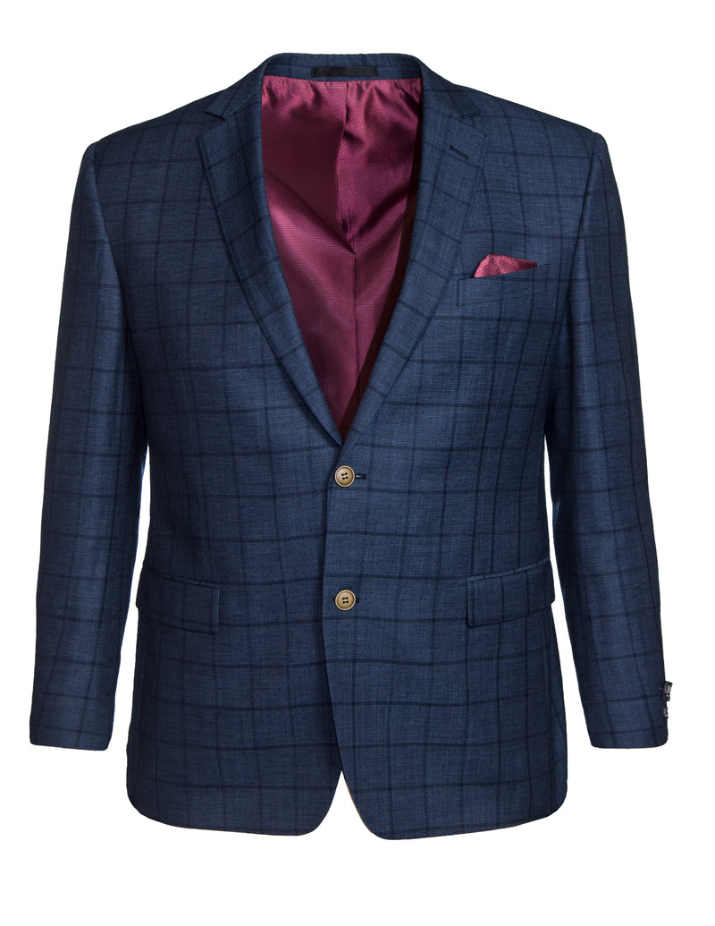Boston Blue Broad Check S17B327-12 Sports Coat