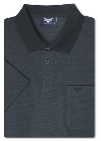Bravado Black Beckinsale Mercerized Polo