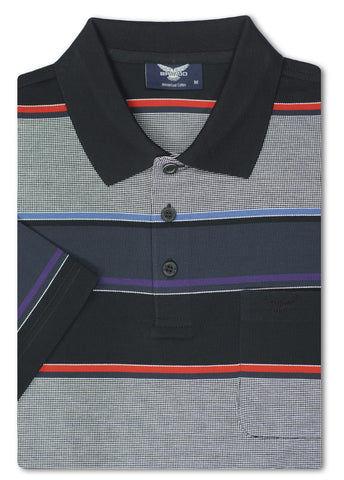 Bravado Black Pendle Mercerized Polo