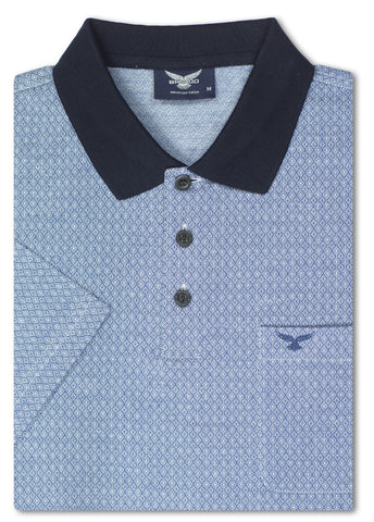 Bravado Blue Carleone Mercerized Polo