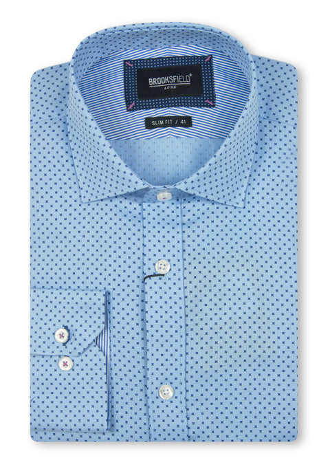 Brooksfield Light Blue BFC1498 Luxe Printed Motif