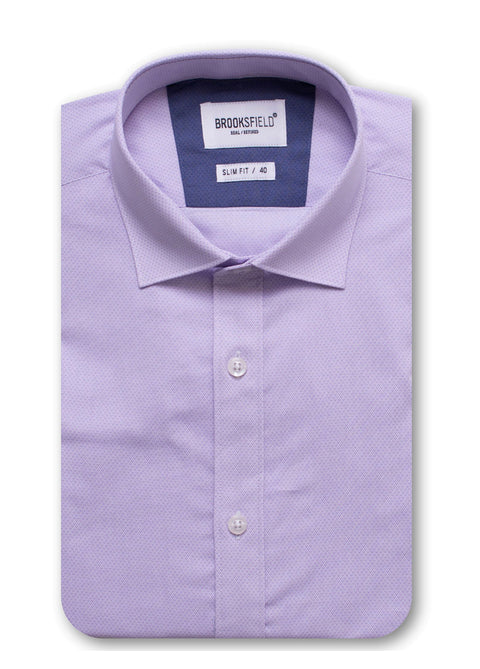 Brooksfield Lilac BFC1449 Career Micro Geo Print L/S Shirt
